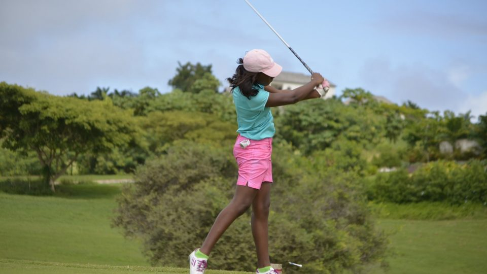 junior golfer girl